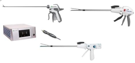 Cirugía - Bisturí con energía ultrasónica y suturadores mecánicos endoscópicos